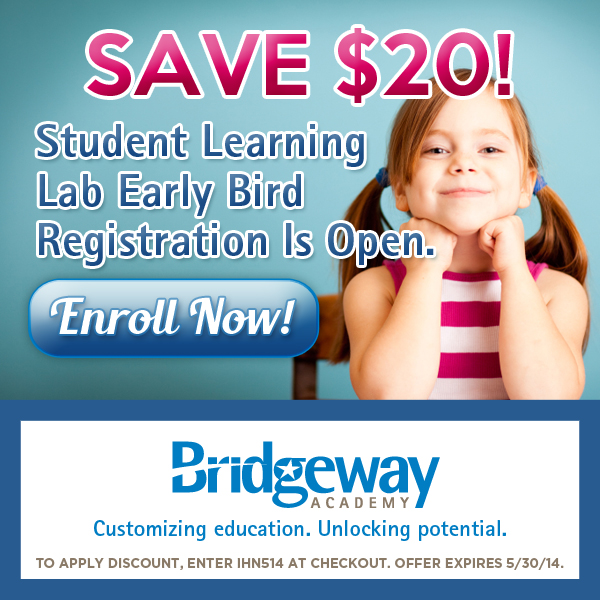 Save $20 when you register for a Learning Lab from Bridgeway Homeschool Academy by May 30, 2014!
