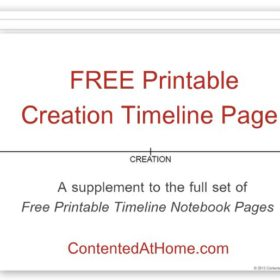 Free Printable Creation Timeline Page