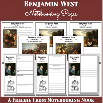 Free Benjamin West notebooking pages from Notebooking Nook