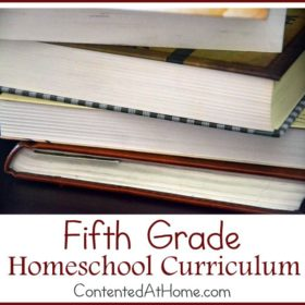 Fifth Grade Homeschool Curriculum {2014-2015}