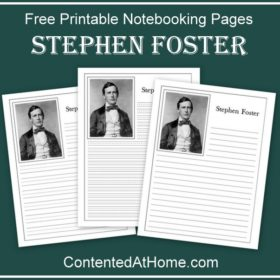 Stephen Foster Notebooking Pages