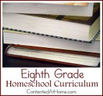 Eighth Grade Homeschool Curriculum {2014-2015}