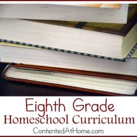 Eighth Grade Homeschool Curriculum {2014-2015}