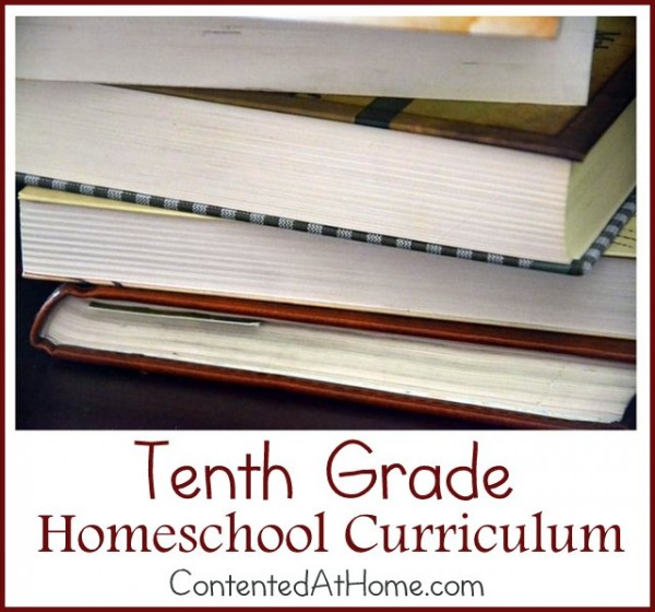 Tenth Grade Homeschool Curriculum