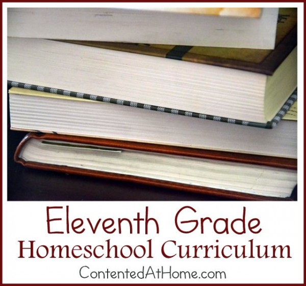 Eleventh Grade Homeschool Curriculum