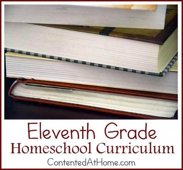 Eleventh Grade Homeschool Curriculum