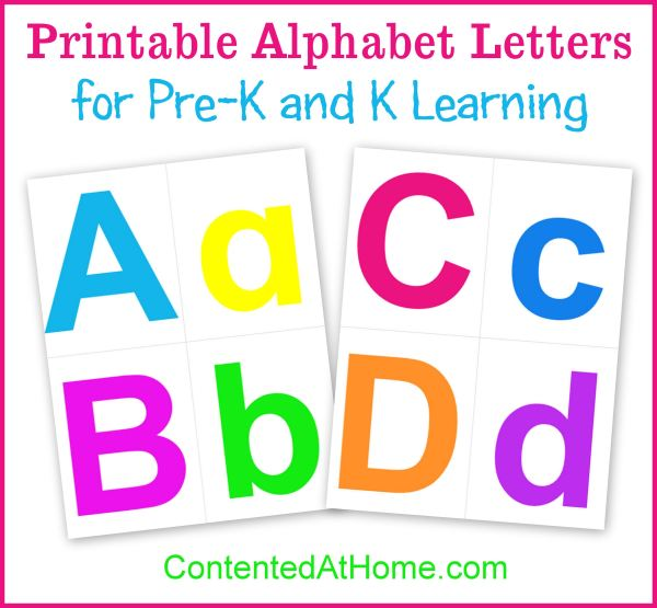 photo about Colorful Alphabet Letters Printable called Printable Alphabet Letters Happy at Residence