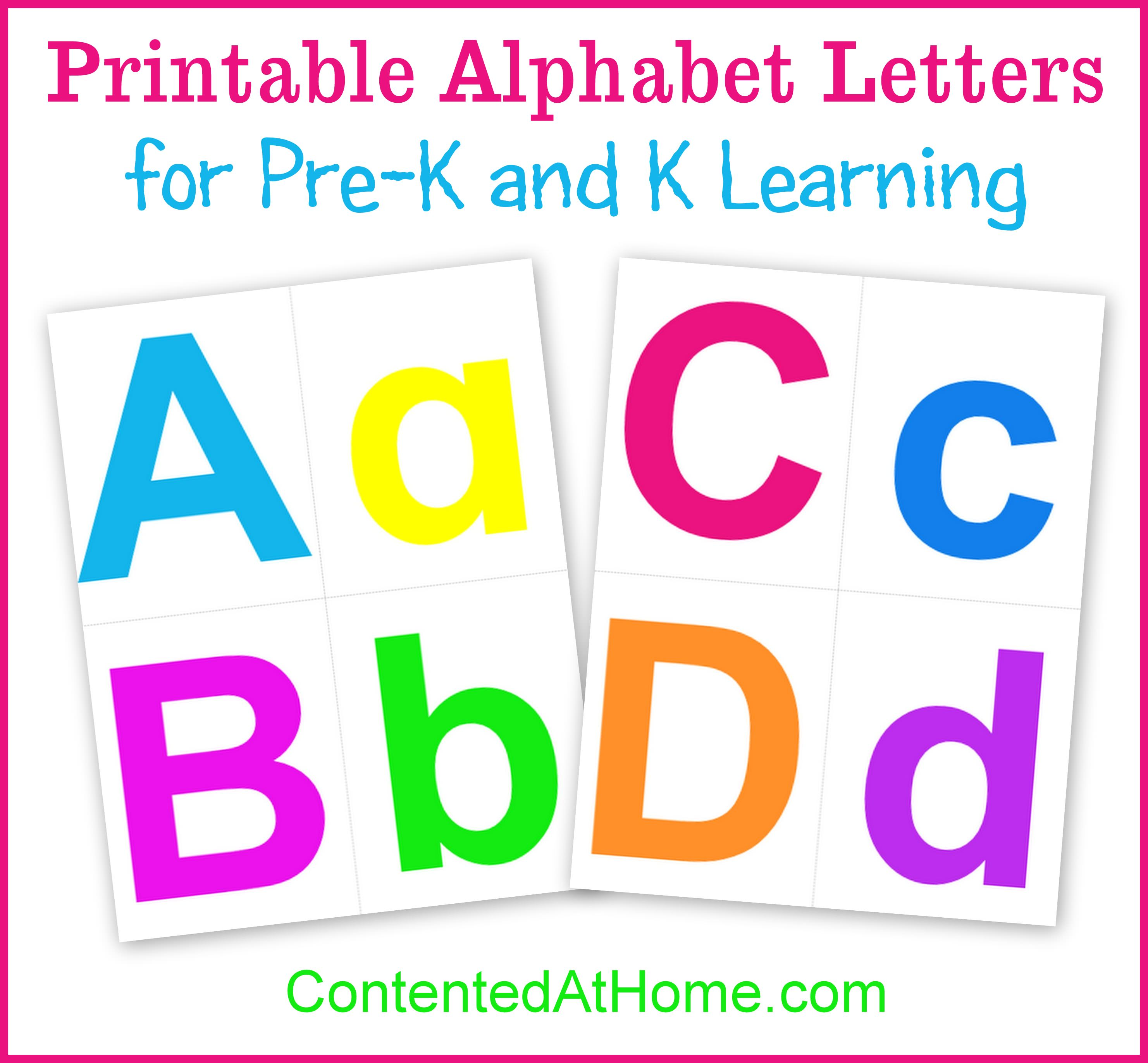 printable alphabet letters | contented at home