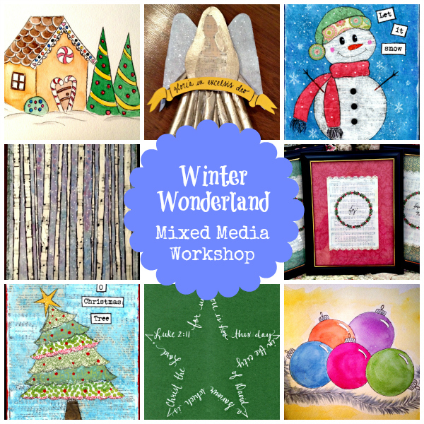 Winter Wonderland Mixed Media Workshop