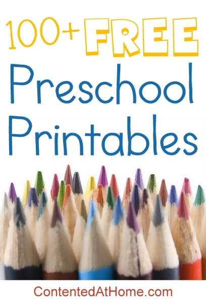 100+ FREE Preschool Printables | Contented at Home