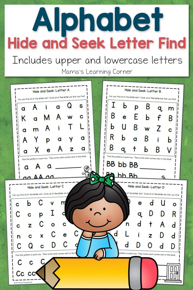 Free printable alphabet worksheets from MamasLearningCorner.com