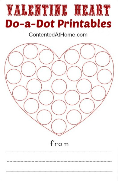 1-Valentine Heart Do-a-Dot Printables