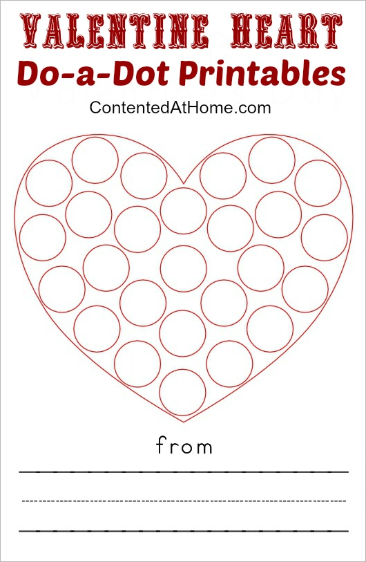 Do A Dot Printables Valentine Hearts Contented At Home