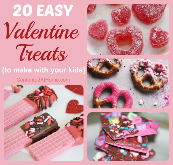 Variety of beautiful Valentine treats