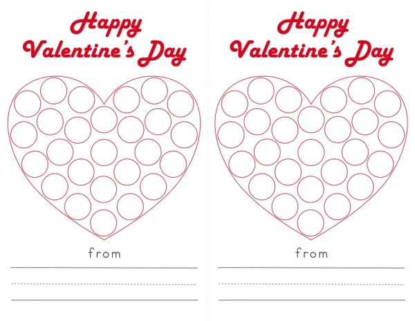 Do-a-Dot Printables: Valentine Hearts | Contented at Home