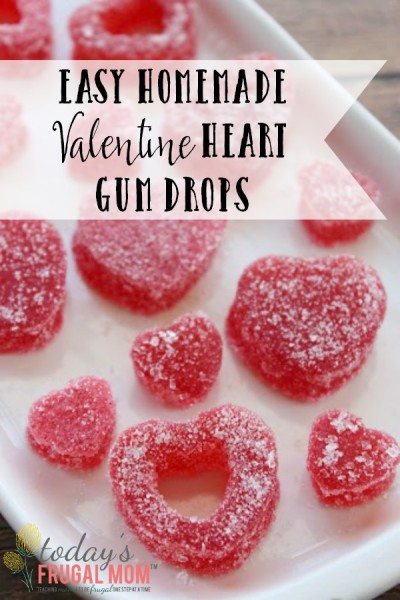 Easy Homemade Valentine Heart Gumdrops from TodaysFrugalMom.com
