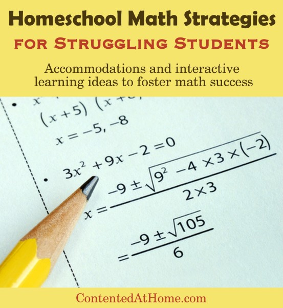 Homeschool Math Strategies for Struggling Students