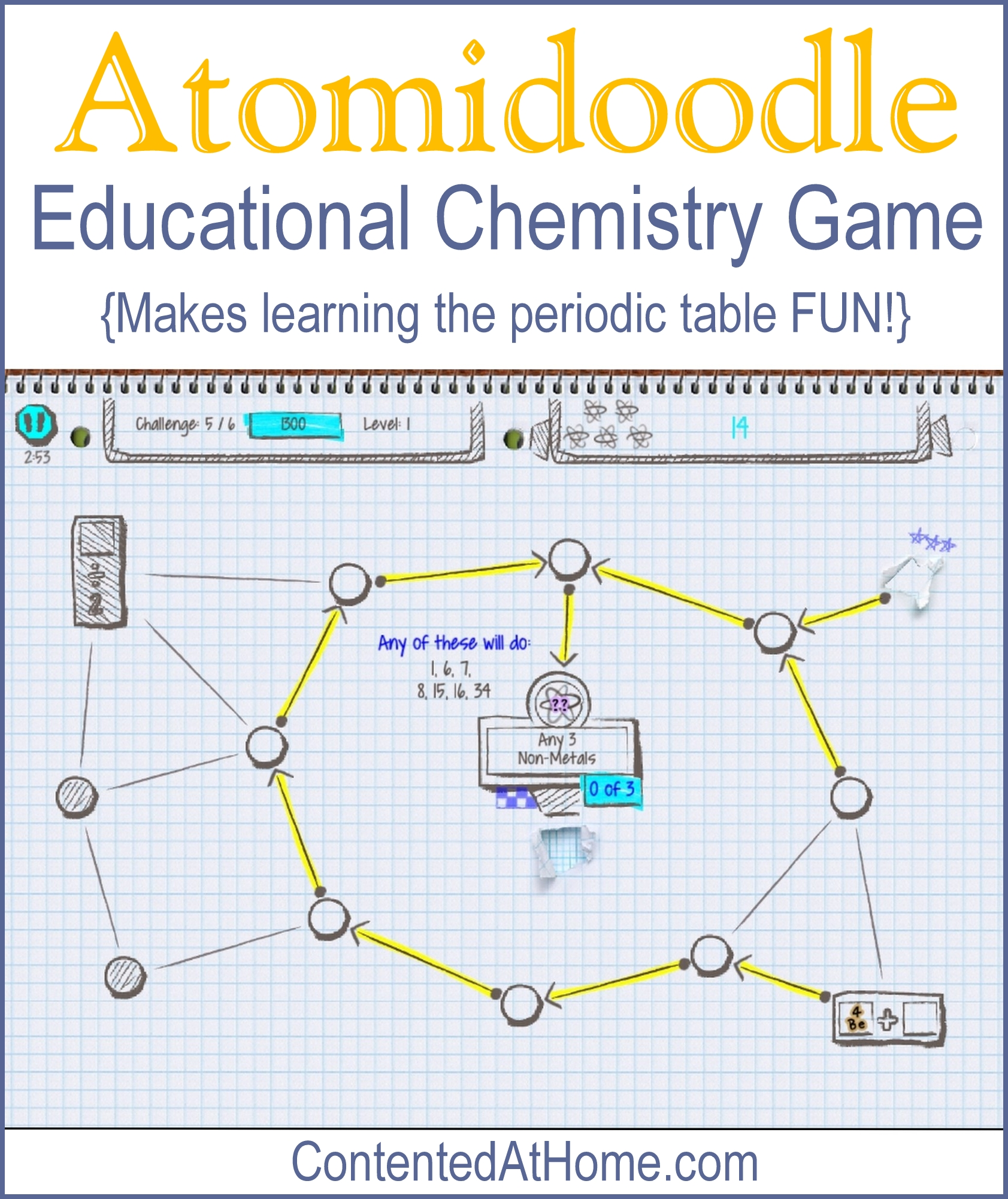 atomidoodle educational chemistry game contented at home. Black Bedroom Furniture Sets. Home Design Ideas