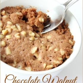 Chocolate Walnut Muffin in a Mug {THM S}
