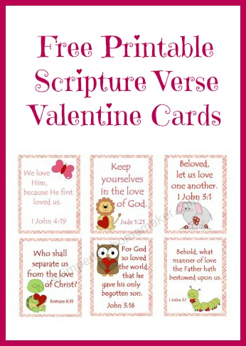Printable Scripture Verse Valentine Cards from Imperfect Homemaker