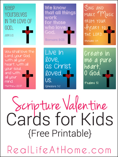 Scripture Valentine Cards for Kids from Real Life at Home