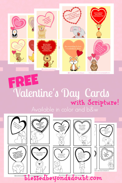 Free Valentine's Day Cards with Scripture from Blessed Beyond a Doubt