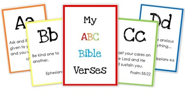 Free Alphabet Printables: ABC Bible Verse Cards | Contented