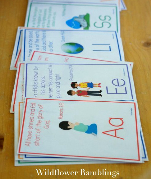 ABC Bible Verses for Children at Wildflower Ramblings
