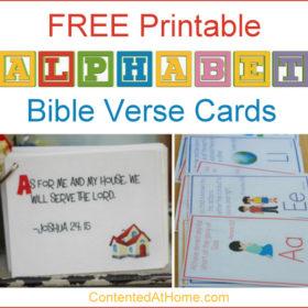 Free Alphabet Printables: ABC Bible Verse Cards
