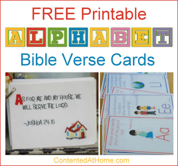 Free Alphabet Printables: ABC Bible Verse Cards