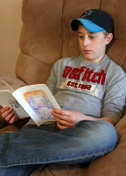 Reading adventure stories from The Adventurous Mailbox