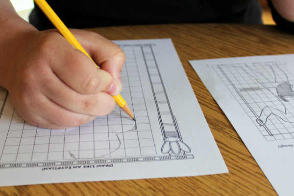 Drawing like an Egyptian - a hands-on project from Project Passport: Ancient Egypt