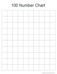 Free Math Printable: Blank 100 Number Chart