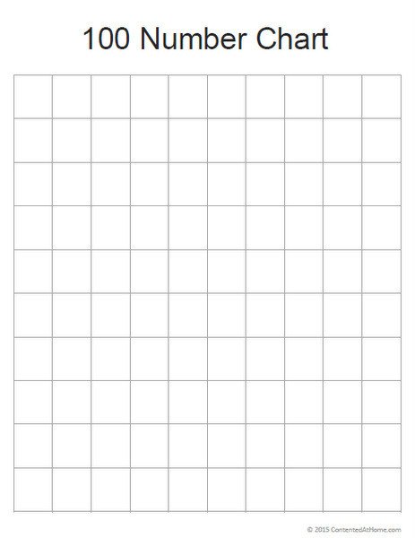 Free Printable Blank 100 Number Chart