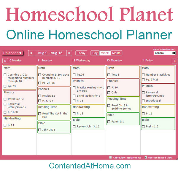Lesson Planet Online Homeschool Planner