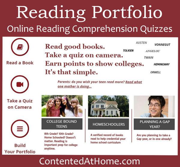 Reading Portfolio: Online Reading Comprehension Quizzes