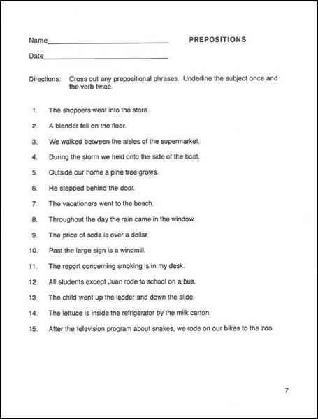 Easy Grammar worksheet