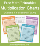 Free Math Printables: Multiplication Charts