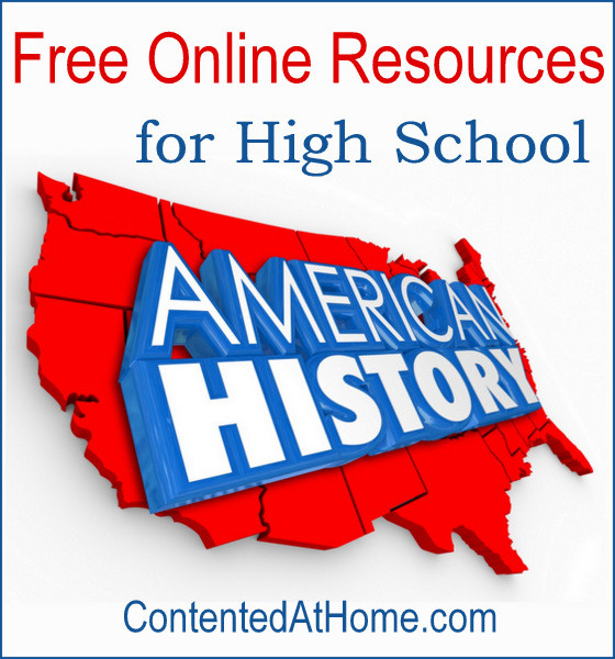 Don't miss this list of the very best FREE online American history resources for high school!