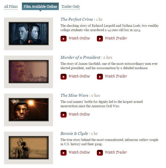 Free online American history videos