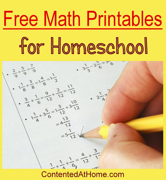 Free Math Printables for Homeschool