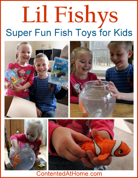 Young children playing with motorized Lil Fishys toys