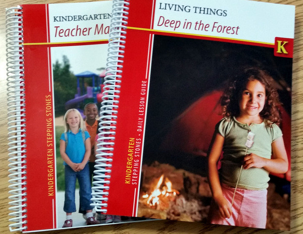 2 spiral-bound books from the Kindergarten Stepping Stones kindergarten curriculum