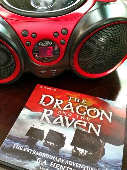 CD player playing the audio drama The Dragon and the Raven