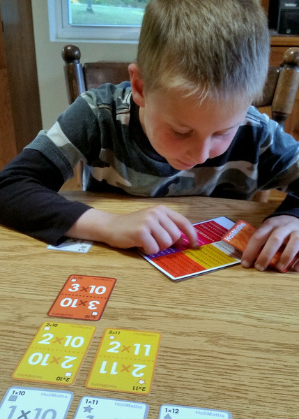 Fun multiplication card game for kids