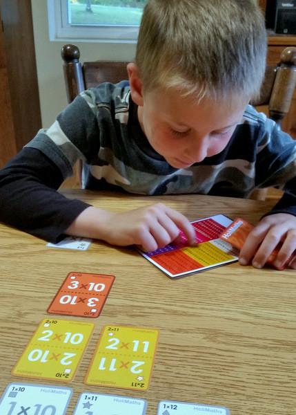 Fun multiplication card game for kids