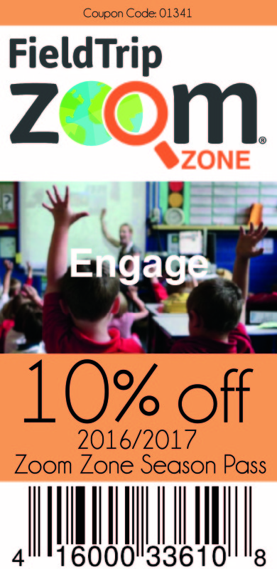 Save 10% on a FieldTripZoom Zone annual pass!