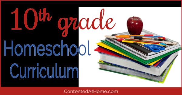 Homeschool curriculum for 10th grade