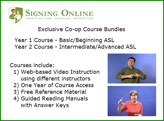American Sign Language homeschool curriculum
