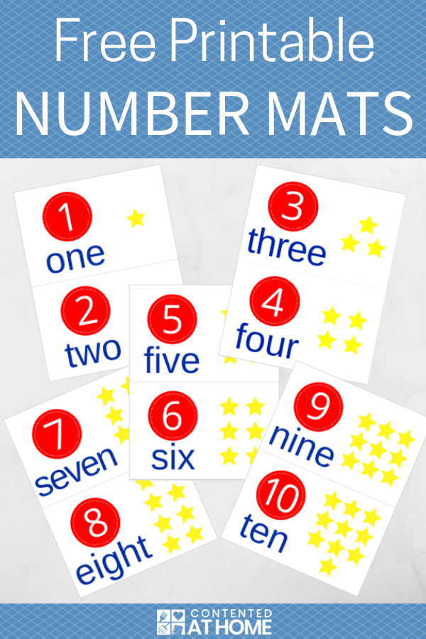 Colorful number mats for numbers 1-10
